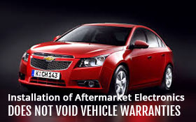Installation of Aftermarket Electronics Does Not Void Vehicle Warranties
